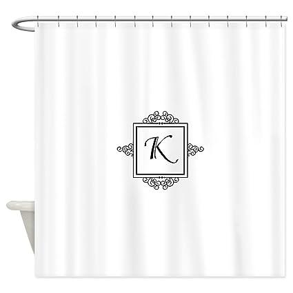 Amazon CafePress Fancy Letter K Monogram Shower Curtain