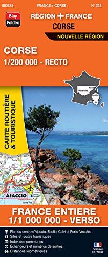 carte de france routière pdf Corse, 1/200 000, recto : France entière, 1/1 000 000, verso .pdf