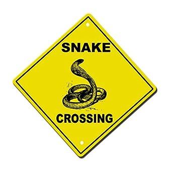 Snake Crossing Vinyl Label Decal Sticker 8