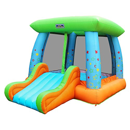 Sportspower My First Jump N' Play Inflatable Bouncer, Slide & Basketball Hoop - INF-2075-17 by Sportspower