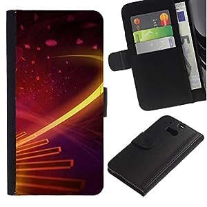 ZONECELL ( No Para HTC ONE Mini 2) Imagen Frontal Negro Cuero Tarjeta Ranura Trasera Funda Carcasa Diseño Tapa Cover Skin Protectora Case Para HTC One M8 - galaxia digitales