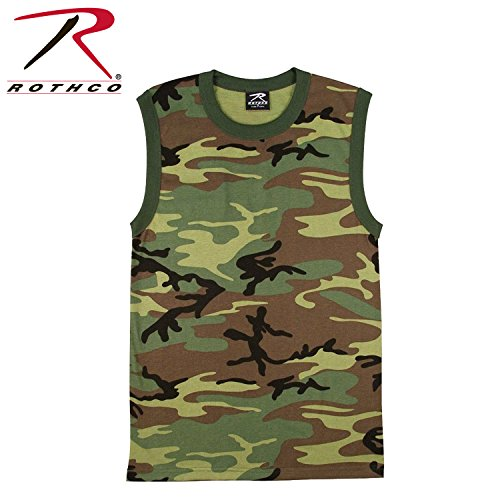 Rothco Muscle Shirt/Woodland Camo - XX-Large