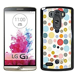 Fashionable And Unique Kate Spade Cover Case For LG G3 Black Phone Case 57