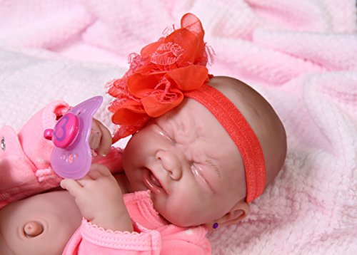 My Cute Baby Girl Doll Crying Preemie Berenguer Newborn Doll Outfit Vinyl 14