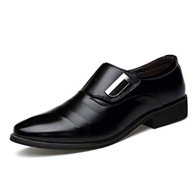 Amazon Seakee Mens Business Slip On Dress Shoes Semi Formal
