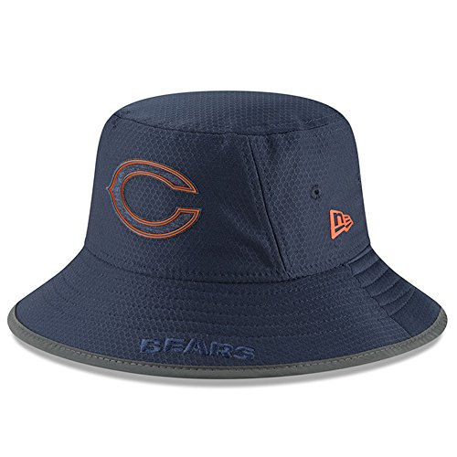 Bears Camp Training - Chicago Bears New Era 2018 Training Camp Primary Bucket Hat Navy
