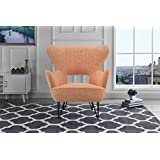 orange living room chair. Mid Century Modern Linen Fabric Accent Armchair with Shelter Style Living  Room Chair Orange Amazon com Chairs Furniture Home Kitchen