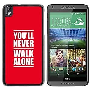 Caucho caso de Shell duro de la cubierta de accesorios de protección BY RAYDREAMMM - HTC DESIRE 816 - NUNCA ANDES SOLO