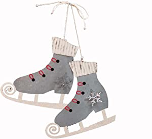 CWI Gifts Tin Ice Skates Ornament, Multi