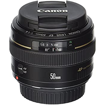 Canon EF 50mm f/1.4 USM Standard & Medium Telephoto Lens for Canon SLR Cameras - Fixed (Certified Refurbished)