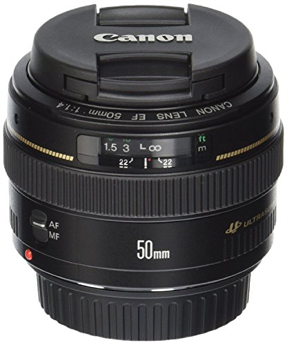 Canon EF 50mm f/1.4 USM Standard & Medium Telephoto Lens for Canon SLR Cameras - Fixed (Renewed)