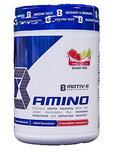 Motiv-8 Amino: Delicious Amino Recovery Drink with Added Electrolytes That Increases Endurance and Enhances Recovery (Strawberry Margarita)