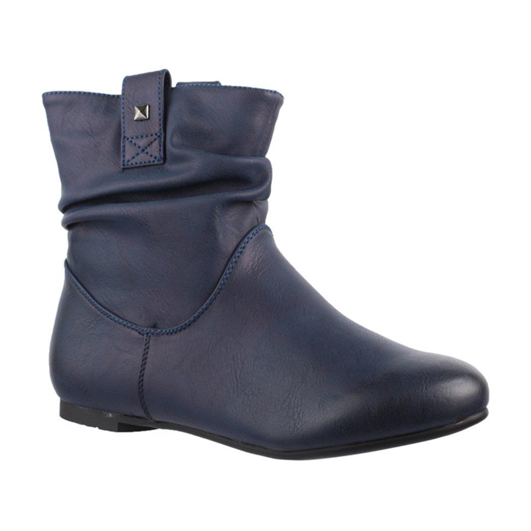 Elara Femme Bottine | Confortable de Bottes Bleu de Glissement | Confortable Chunkyrayan Bleu b0ad102 - conorscully.space