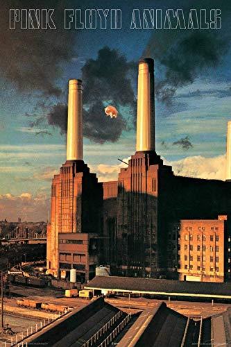 aquarious Laminated Pink Floyd Animals Rock Music Poster 24x36