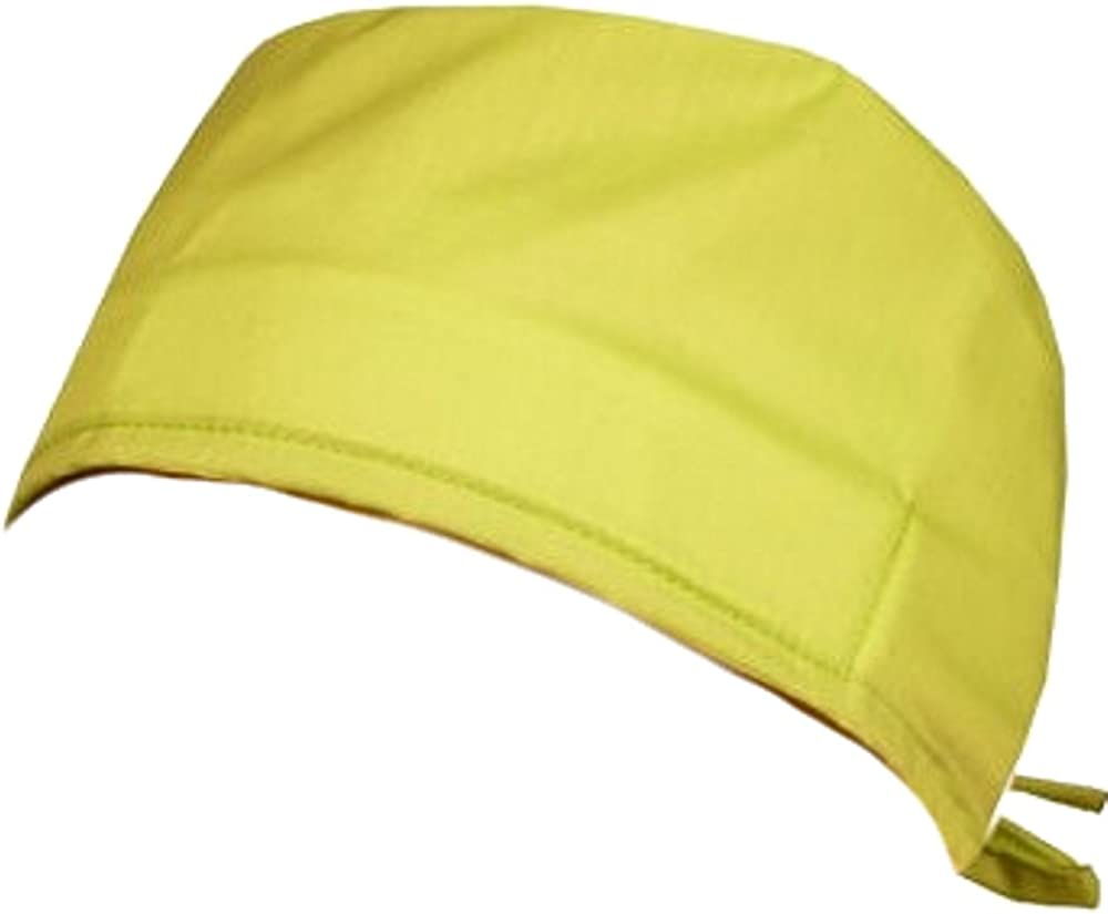 Mens And Womens Medical Scrub Caps Lime Green