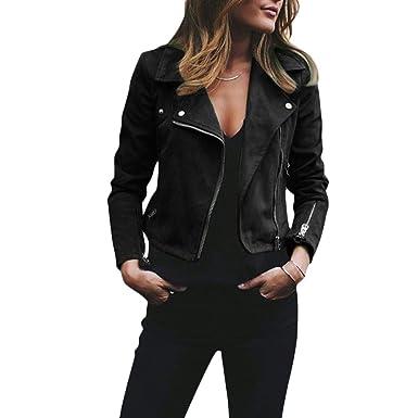 Amazon.com: Onner - Chaqueta de piel para mujer, cuello de ...