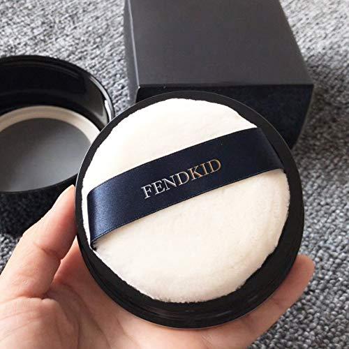 Round Jumbo Velour Powder Puff W Ribbon 4'' Diameter by FENDKID
