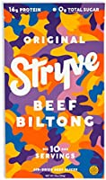 Stryve Keto Protein Snack | Air Dried 100% Beef Biltong | Lighter than Jerky | 16g Protein | 0g Sugar | Low Carb No Fat |...