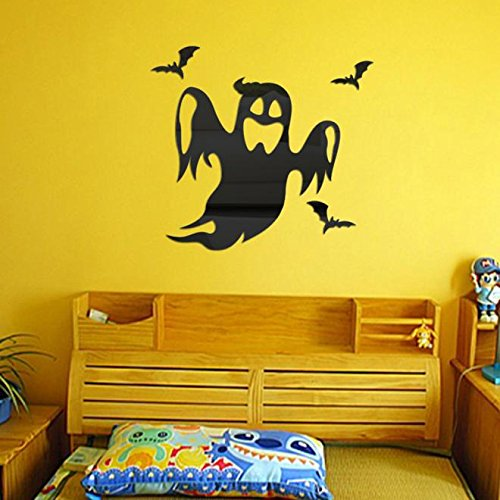 OTTATAT Wall Stickers for Bedroom Boys 2019, Halloween Ghost Background Decorated Living Room Bedroom s Black Easy to Peel Lingerie Party, Children Room Gift for Lover Free Deliver Clearance]()