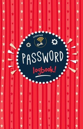 Password Book: Internet Password Logbook / Internet Organizer Password Keeper notebook / Journal And Logbook Protect Usernames and Passwords / Internet Password Journal - RED Modern Design