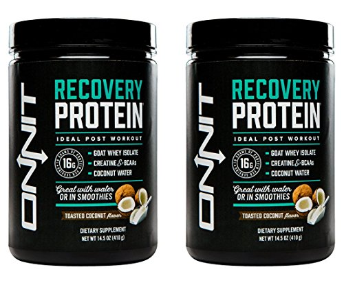 Onnit Recovery Protein: Post Workout Supplement with Whey Isolate, Creatine, and Coconut Water - Toasted Coconut Flavor