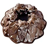 Nordic Ware Harvest Leaves Bundt Cake Pan, One Size, Bronze
