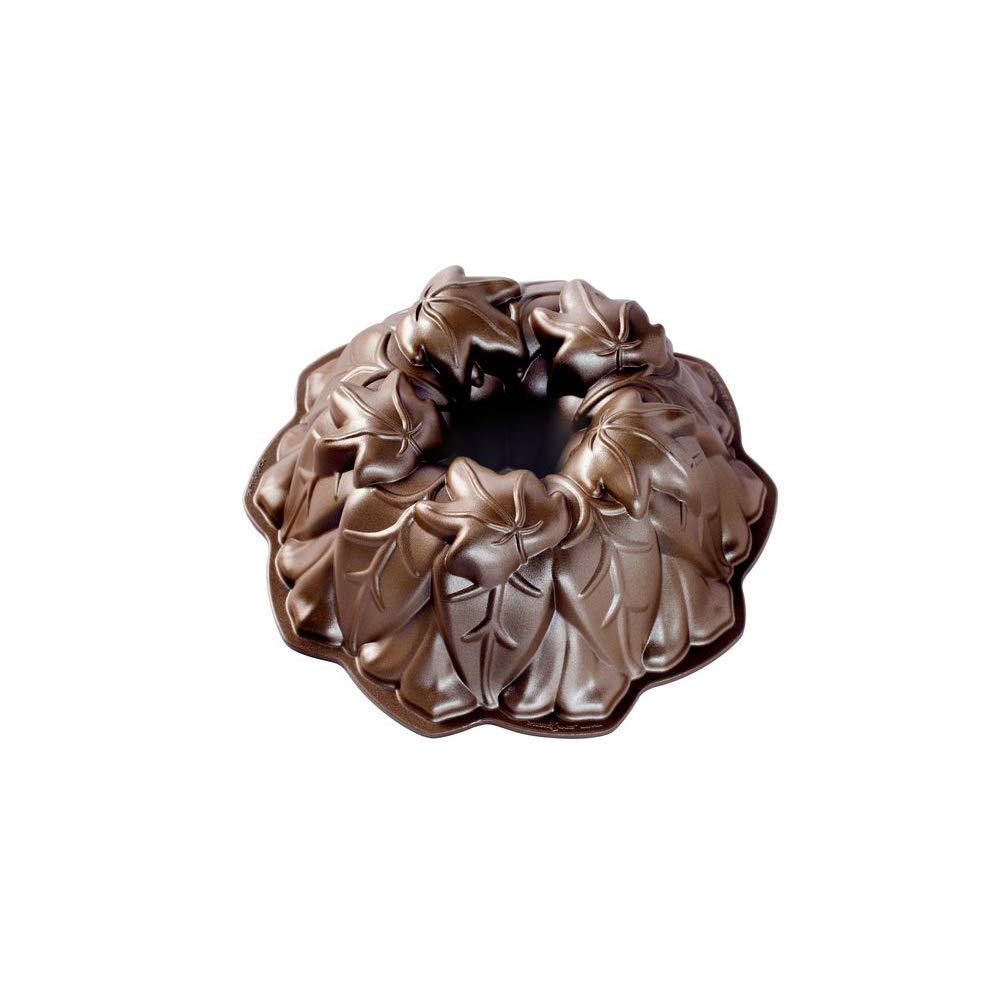 Fonte daluminium 26,7/x 26,7/x 9,5/cm NordicWare Moule Feuilles dautomne/ Marron /Bundt 1/unit/és
