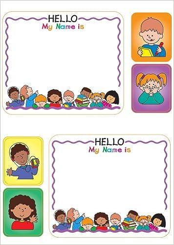 Kids Name Tags Sticker Pack: Amazon.es: Frank Schaffer Publications: Libros en idiomas extranjeros