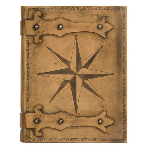Eccolo Made in Italy Firenze Collection Leather Compass Rose Album Scrapbook with 50 Ivory Pages, 9 x 12-Inch (Pic Rug)