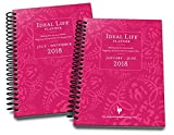 Cheap 2018 Ideal Life Planner Floral Pink monthly / weekly 12 month planner (JAN – DECEMBER) with nutrition tracker