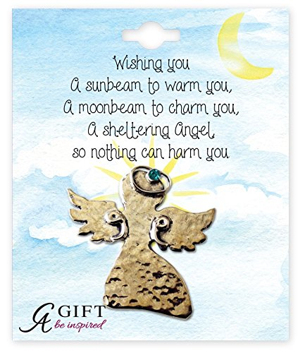 Cathedral Art BA324G December/Blue Zircon Birthstone Angel Pin, 1-1/2-Inch