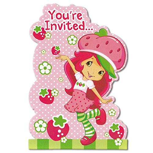 Strawberry Shortcake Birthday Party Invitation 16 Count with Save the Date Stickers