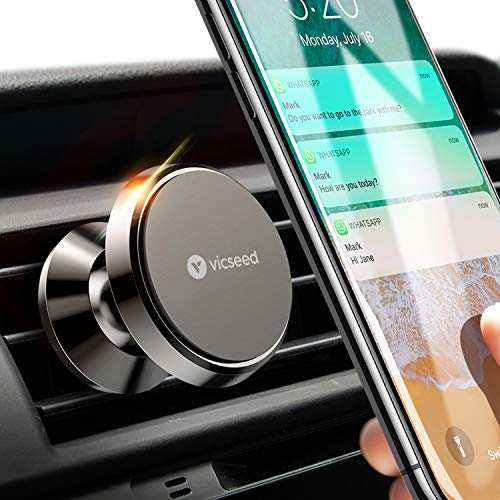 Car Phone Mount VICSEED Magnetic Phone Car Mount Magnet Air Vent Mount 360 Rotation Car Phone Holder Fit for iPhone 11 Pro XS Max XR X 8 7 6 Plus Samsung Galaxy Note10 S10 S10+ S10e S9 All Phones
