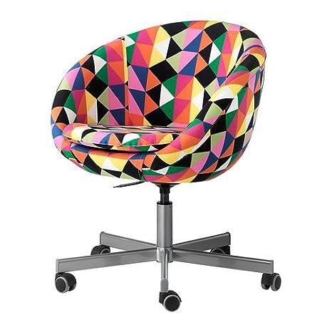 IKEA SKRUVSTA - Silla giratoria, Majviken multicolor - 70x60 cm: Amazon.es: Hogar