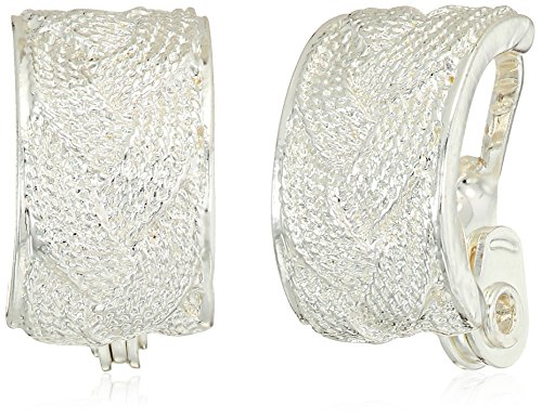 Napier Silver Tone Hoop Clip On Earrings by Napier