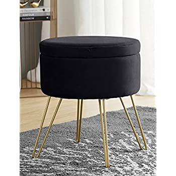 Amazon Com Ornavo Home Modern Round Velvet Storage
