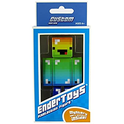 "Derpy Rainbow Guy Pixelaction Figure by EnderToys - 4"" plastic action figure from Seus Corp Ltd."