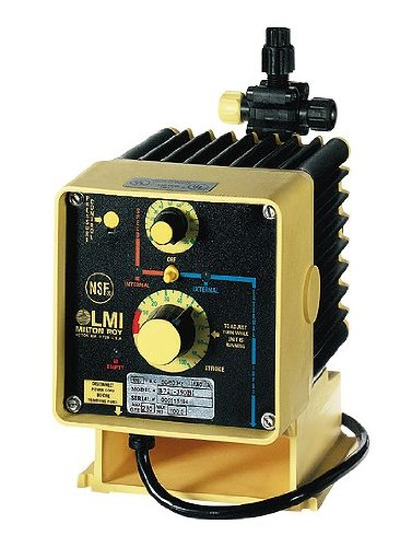 - LMI C731-318 SI Solenoid-Diaphragm Metering Remote-Control Pump, 8.0 GPH, 115 VAC
