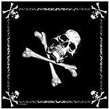 Bandana, Black w/Jolly Roger, 22-inch by Rothco