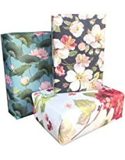 Aakar Pack of 6, Size 17 x 29 Inches, Wrapping Paper Sheets For Craft, Packing, Birthday, Christmas, Wedding (Souls of Sunshine)