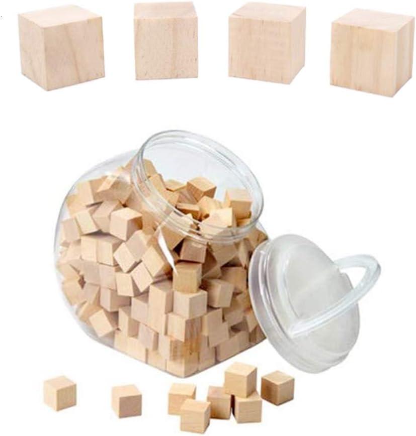 25*25*25 mm) yyuezhi Cubes Carr/és en Bois artisanal Mini Bloc Carr/é en Bois 30 Morceaux de Cubes en Bois pour Les Tampons Les Loisirs Cr/éatifs et Artistiques Les Pochoirs Les Alphabets et Les Nombres