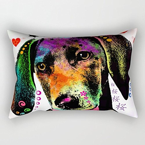 [Dogs Throw Cushion Covers ,best For Home Office,couch,lover,family,outdoor,bedding 20 X 30 Inch / 50 By 75 Cm(both] (Creative One Of A Kind Costumes)