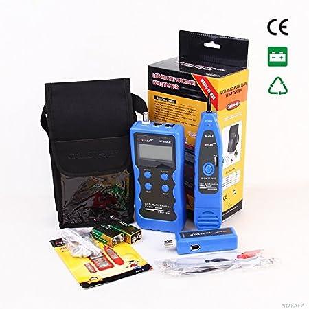 Fil tracker LAN t/él/éphone USB coaxial 1394/RJ45/RJ11/BNC scanner 5e TM 6e Nf-838/r/éseau LCD testeur de c/âble Risepro