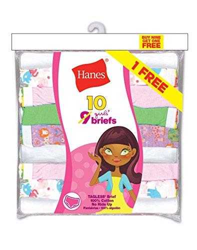 Hanes PA13BB Girls ComfortSoft Briefs - Assorted - (Hanes Girls Briefs)