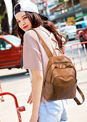 a larga Pocket Tracolla Donna Marrone Coolives zaino Borsa Multi CqYTtg