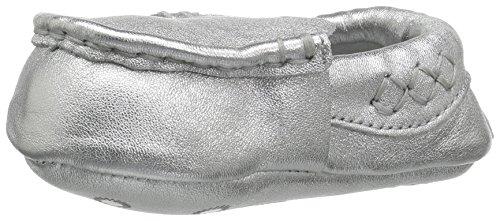 UGG Girls' I Sivia Metallic Slip-on, Silver, 4/5 M US Toddler -