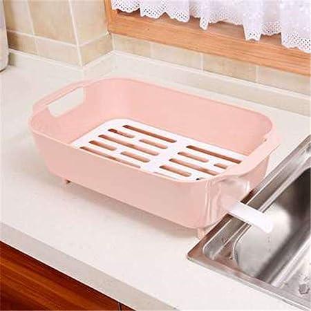 LYWNB Estante de desagüe de plástico para Cocina, coladores ...