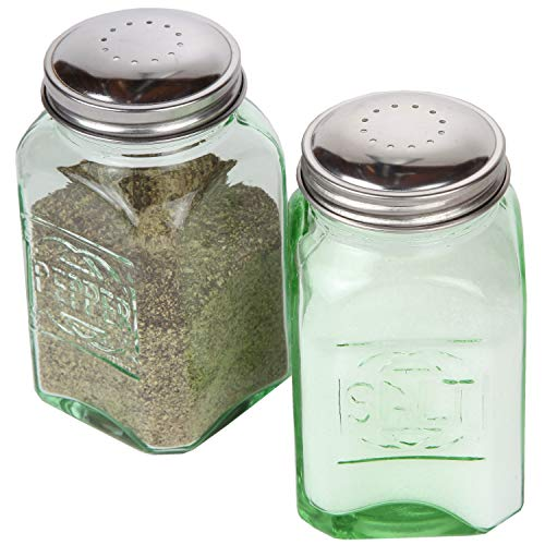 Trenton Gifts Depression Style Glass Salt and Pepper Shakers | Green
