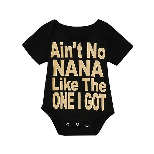 05f12785e540 Conina Cotton Letter Print Newborn Infant Baby Girl Boy Romper Bodysuit  Jumpsuit Outfits Sunsuit Clothes (