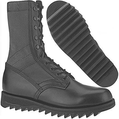 U.S. G.I. Black Ripple Jungle Boots New (12R)